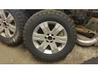 Nissan navara alloy wheels with snow tyres