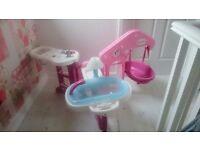 Childrens baby doll nursing station ..fold away toy..