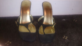 rare beautiful toe post heels size 4, used a couple of times but in good condition £7