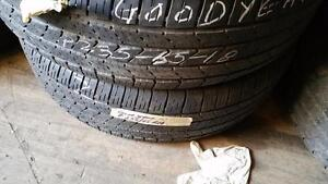 Set of two 235 65 18 tires for sale