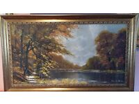 Signed Charles Evison OIL ON CANVAS 90 X 50 CM only £45