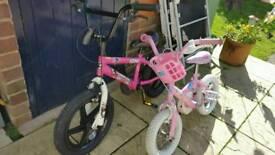 2 kids child's bikes