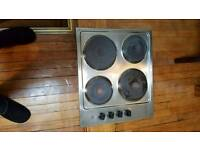 Hob stainless steel electric