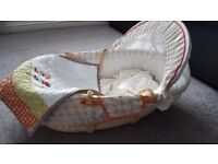 Mamas & Papas moses basket bundle