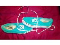 Vans turquoise size 7