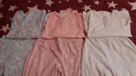 Girls pjs set of 3 age 10-11yrs.long sleeved jumpers. Can mix an match as i bought them in a set.