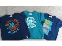 Three boys Saltrock t-shirts size 4-5 yrs