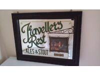 Travellers rest ales and stout pub mirror