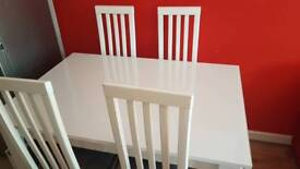 HARVEY'S GLOSS WHITE DINING COLLECTION FOR £300 ONO
