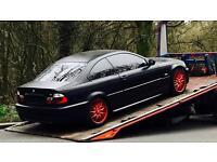 BMW E46 SATIN BLACK MATTE FINISH