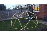Large Childs metal climbing frame