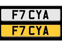 F7 CYA Private number plate for sale