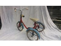 RALEIGH THREE WHEEL CHILD'S TRICYCLE vintage not suitable for children
