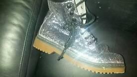 Size 7 glitter boots