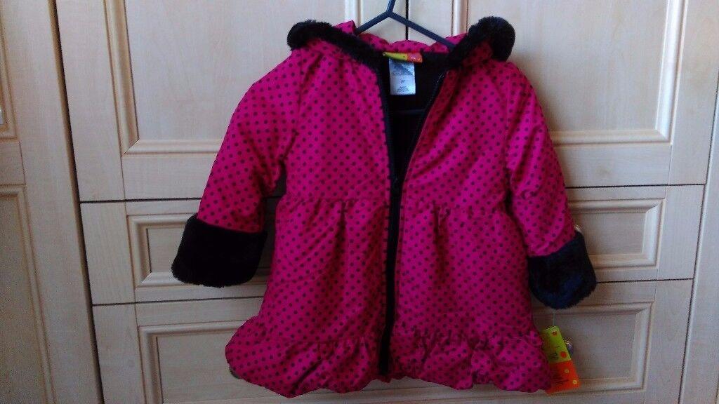 Girls winter fleece lining jacket for sale