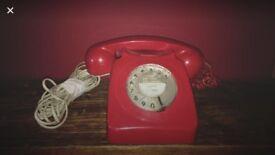 Vintage Rotadial Phone, Red