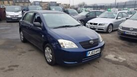 TOYOTA COROLLA 1.4 PETROL T2 5DR++12 MONTH MOT++PREVIOUS LADY OWNER++PX CAR++BARGAIN PRICE!
