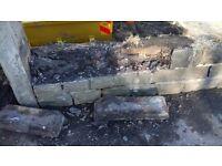 York Stone walling Blocks. Approx 1 cubic m. Mixture of Facing and rough cut blocks.