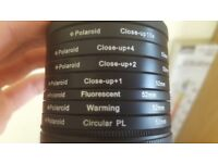 Selection of filters for DSLR including macro and ND filters