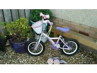 Girls bike with extras vgc