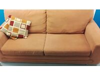 2 Seater Fabric Sofa - Terracotta Red colour [Originally from DFS]