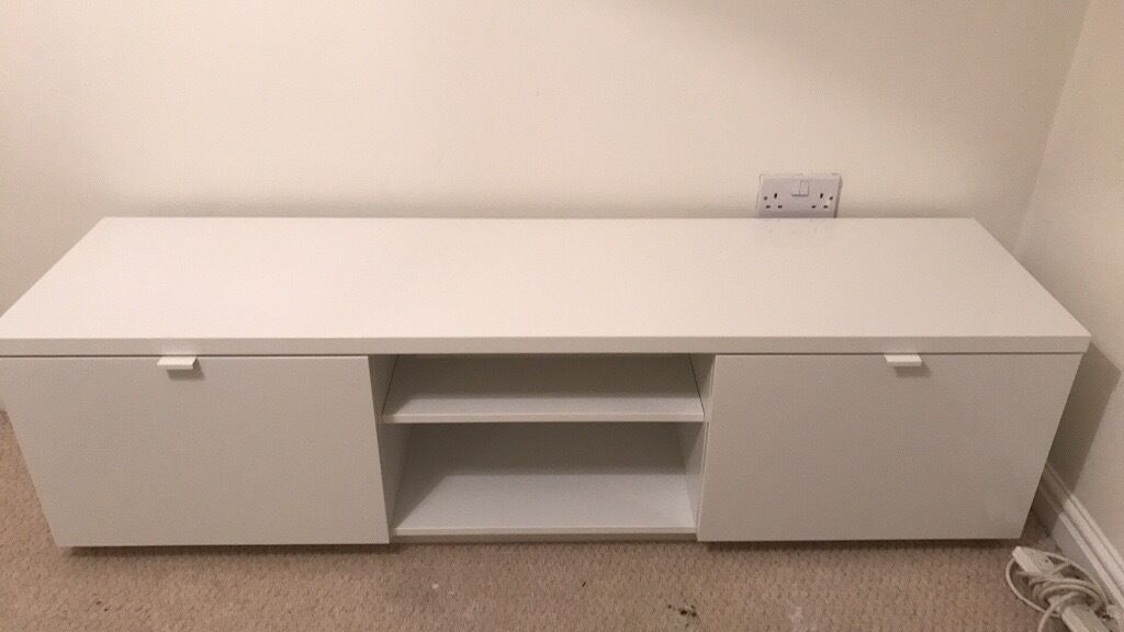 Ikea Byas White Gloss Tv Stand In Churwell West Yorkshire Gumtree