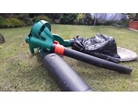 Black and Decker leaf blower and collector