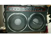 Vintage 1970s Custom Sound guitar amplifier 725 100w (150w with external cab attached)