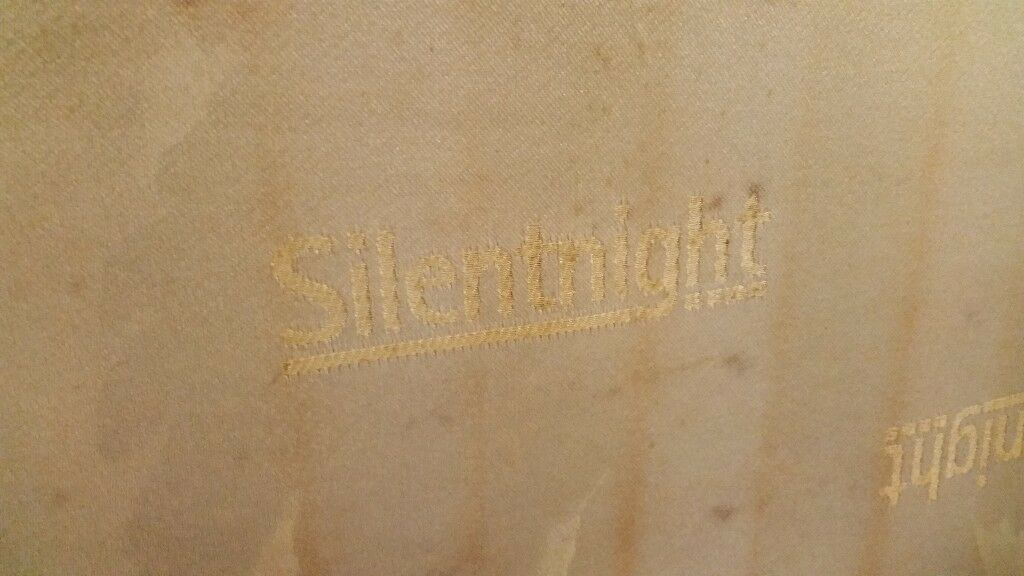 Silent night 4'6 matrass. Used as guest bed. Marked but still very comfortable. 2years old. Free
