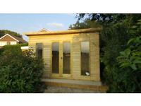 14x8 Pent Summer house Shed Workshop Garden Office Contemporary