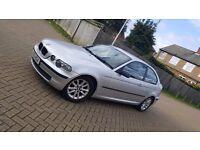 2003 (53) BMW 3 SERIES E46 316ti SE 1.8L PETROL MANUAL 3DR COMPACT MOT OCT 17 HPI CLEAR SUPERB DRIVE