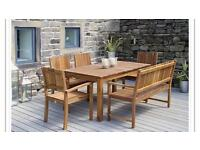 Garden Dining with bench