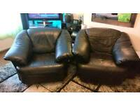 Leather Armchairs Black