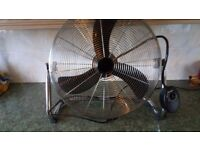 """20"""" Chrome High Velocity Industrial 3 Speed Free Standing Large Gym Fan"""