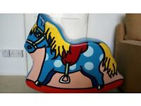 Rocking Horse. Colourful, unique & resilient. Suitable for indoor or outdoor use.