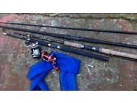 Fishing rods & reels - various bits & pieces