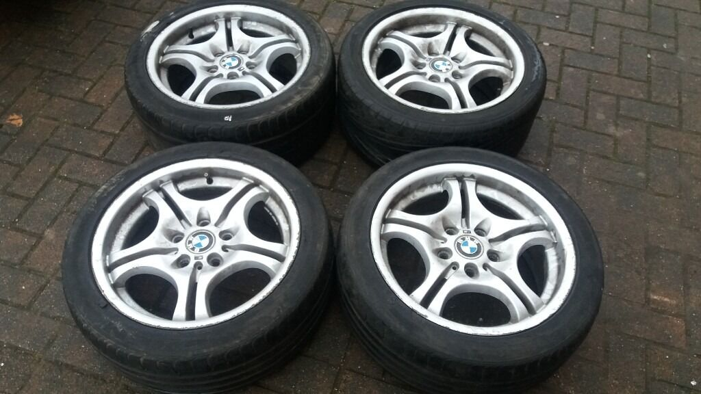 Bmw 17 Quot Staggered Style 68 Alloy Wheels E36 E46 Oem M Style 325 330 Z4 Vivaro Traffic Etc In