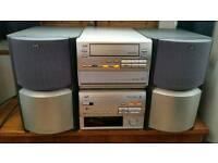 JVC EX-TD33R, MIDI HIFI SEPARATES SYSTEM, AM, FM, 3 DISC CD, CASSETTE, AMP, BUILT IN SUBS.
