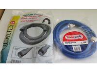 Washing machine blue hose and waste hose