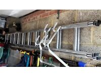 Extension Ladder, 2 Sections, 3.36 m each & Ladder Acxcessories