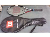 Willson factor tour tenis bag in used condition all zips working! and racket can deliver or post!