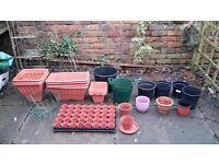 Set of 77 gardenning pots - Good condition