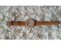 Wood effect watch, new