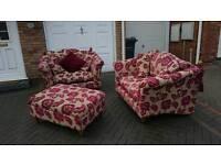 Love seat sofa set with pouffe £200ONO