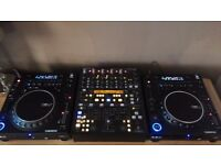 Reloop RMP 3 Professional CD Player x 2 CDJ USB MP3 Midi Scratch Crossmedia Behringer DDM400 Mixer