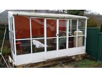 Conservatory / summer house / greenhouse - White aluminium