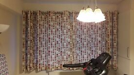 REDUCED Eyelet Curtains and matching cushions
