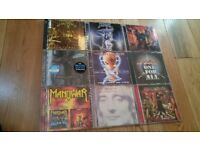 9 CD rock metal job lot Bon Jovi, Iron Maiden, Rod Stewart, Anvil, Manowar, Raven, Cage, Warrior