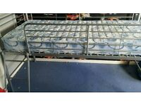 silver coloured mid sleeper bed