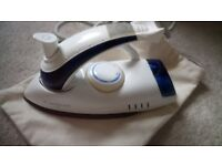 Steam Travel Iron Calton TI1000 with travel bag and instructions